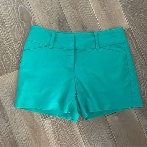 Ann Taylor Signature Green Shorts